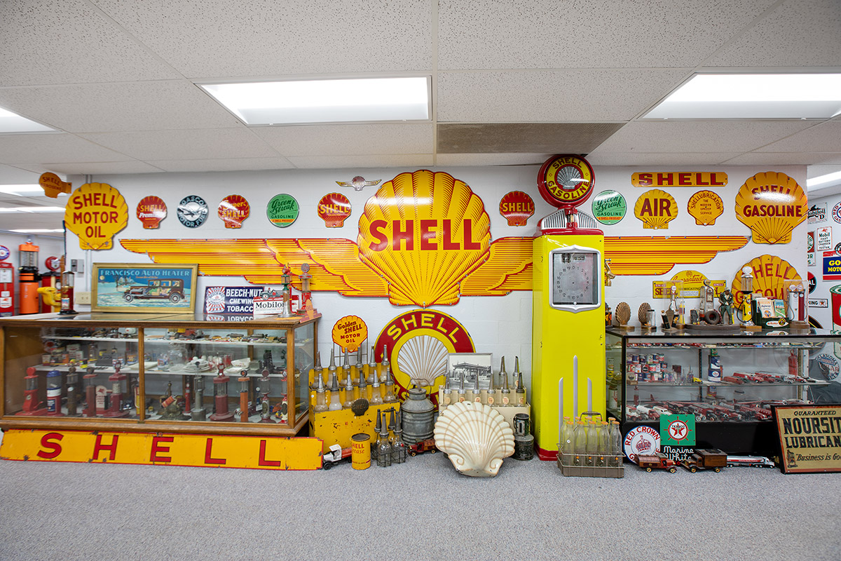 Astro fuel museum shell oil signs