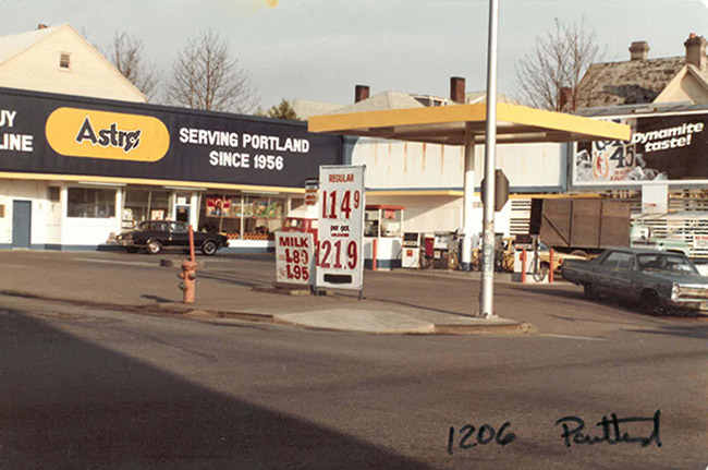 Astro gas station in the 1960's
