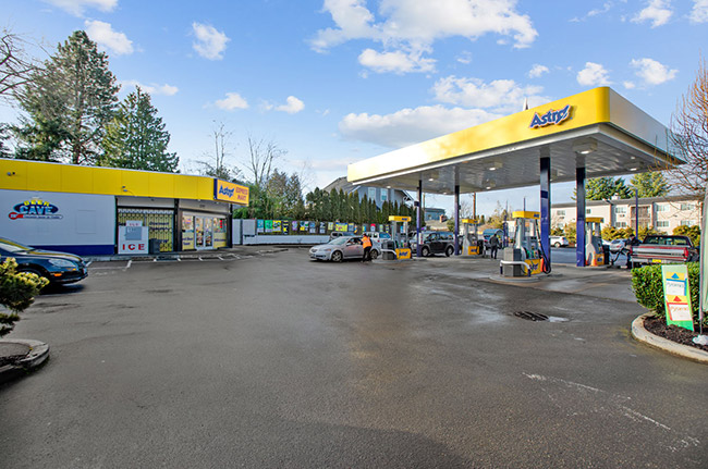 Modern Astro gas station